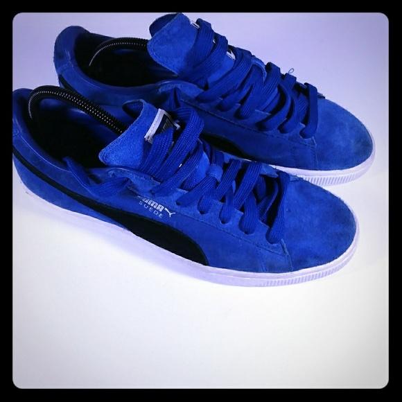 reputable site 4fbf1 f0ecc Puma True Blue Suede Classic Men Shoes Size 10